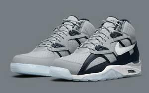 Nike Air Trainer SC High Shoes quot;Georgetownquot; Wolf Gray White DM8320 001 Men#x27;s NEW $179.90