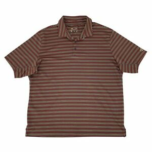 Under Armour Golf Polo Shirt Men Size XL Colorful Striped Short Sleeve Quick Dry $19.94