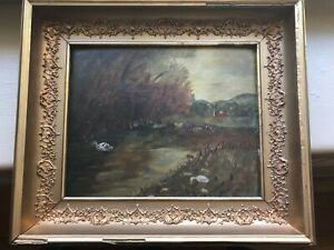 antique oil painting on board $79.95