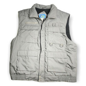 Stag Hill by Haband Gray Full Zip Snap 8 Pocket Vest amp; Loops Tag XXL Hunting 2XL