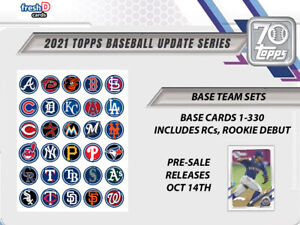 2021 Topps Update Series Base Team Sets 1 330 Pre Sale Releases OCT 29 $8.00