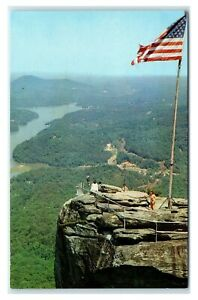Postcard Looking over the Top of Chimney Rock Lake Lure NC N13