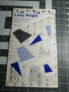 LAZY ANGLE Quilting Ruler * JOAN HAWLEY * Make Blocks 1 6quot; * Directions Included $19.95