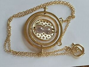 20 Goldtone Hourglass Necklace Pendant 1.75 Diameter NEW Free Shipping $8.99