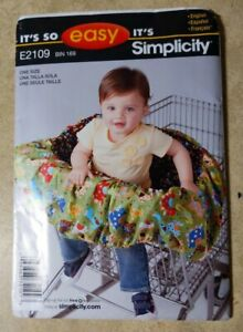 Simplicity E2109 BABY SHOPPING CART SEAT COVER EASY Sewing PATTERN UNCUT Mint $5.25