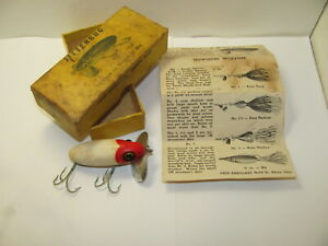EARLY 1941 ARBOGAST JITTERBUG LURE WITH BOX AND PAPERWORK