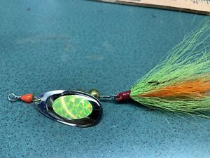 In line bucktail spinner 1 2 Ounce Pike Lure #5 French Blade