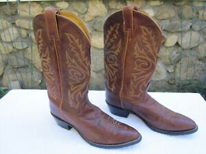 Justin Boots 1560 Marbled Chestnut Size 10D Look
