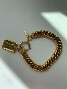 CHANEL 31 Rue Cambon late 80's early 90's vintage gold charm bracelet $800.00