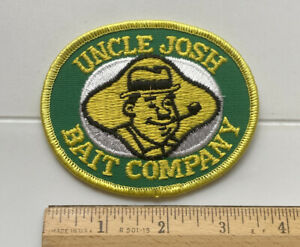 Uncle Josh Bait Company Fishing Green Yellow Embroidered Patch Badge