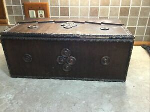 Vintage Antique Wooden Pull Out Tray Sewing Box Organizer Carrier Wood Buttons $29.99