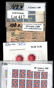 US Discount Postage stamps $100 Face Only $69.95 Free Shipping Lot #417
