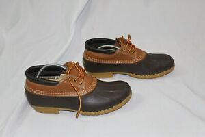 LL BEAN Men#x27;s Brown Leather Gumshoe Duck Maine Hunting Boots Size 10