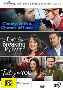 Cloudy With A Chance Of Love Dont Go Breaking My Heart Falling For You DVD $29.99