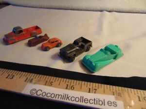Vintage Lot 5 Toy Cars Truck MG Midgetoy Goodee Truck US Army Jeep 2 small Cars