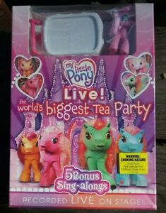My Little Pony Live  World#x27;s Biggest Tea Party New DVD Your kids will love it $7.90