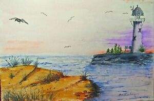 small original watercolor painting signed 10x7 $40.00