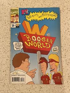 BEAVIS AND BUTTHEAD BOOGER WORLD MAY# 3 MARVEL COMIC BOOK 1994 Great Condition $5.00