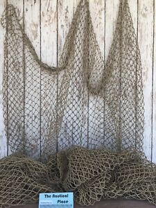 Used Commercial Fishing Net Vintage Fish Netting Old Recycled Reclaimed $27.94