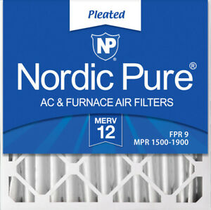 Nordic Pure 20x20x4 (3 58) Pleated MERV 12 Air Filters 2 Pack