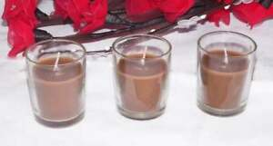 12 Chocolate Brown Wax Wedding Event Function Table Decoration Candle Give Away AU $13.95
