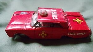 1950 s ford tin friction fire chief car made