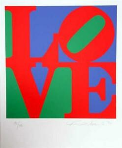 Fabulous Robert Indiana, The Book Of Love 12, 1996 Hand Signed