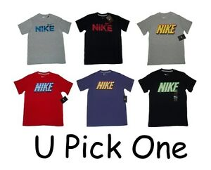 YOUTH BOYS NIKE T-SHIRT SHORT SLEEVE TEE SPORTS ATHLETIC TOP SUMMER LOGO SWOOSH