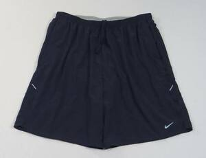 Nike Dri Fit Black Running Shorts With Brief Liner Mens NWT