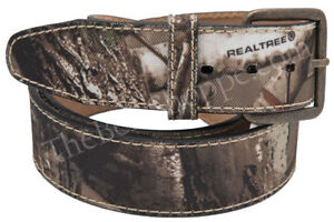 REALTREE AP HD Camouflage Camo Canvas Belt Size 32 46 NEW