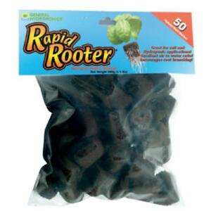 General Hydroponics Rapid Rooter Replacement Plugs 50 Count gh cloning seed