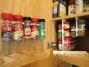SpiceStor Organizer Rack 20 Cabinet Door Spice Clips FREE FAST US SHIPPING
