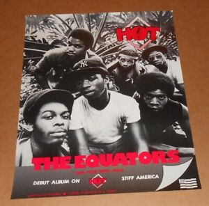 The Equators Debut Album Hot Original Vintage Promo Poster 22x28 Brothers Bailey $58.95