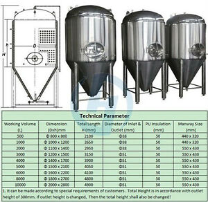 6BBL Beer Fermenter - Non-Jacketed - Brand New - Free Shipping