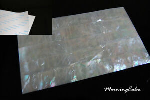 White Mother-of-Pearl Coated Adhesive Veneer Sheet (Shell Inlay Luthier Lure)