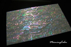Prism Abalone Wide Veneer Sheet (Lure Mother-of-Pearl Shell Inlay Nacre Luthier)