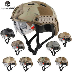 Emerson Airsoft Helmet FAST Helmet Tactical Helmet w Goggle Military Gear Army