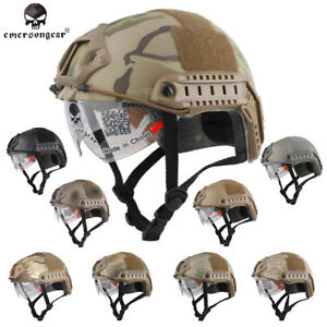 Emerson FAST Helmet with Protective Goggles MH Tactical Military Airsoft Gear