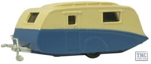 76cv002 oxford diecast cream blue caravan 1