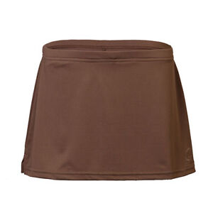 Women Brown Tennis Skirt Skort WITH Compression Shorts XS S M L XL 2XL Athletic