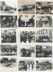 BELFAST IRELAND DURING THE TROUBLES SET OF 44 IMAGES ORIGINAL PHOTOGRAPHS OF $449.93