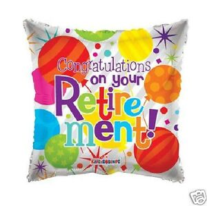 18 Congratulations on your Retirement Silver Colorful Mylar Foil Balloon Gifts