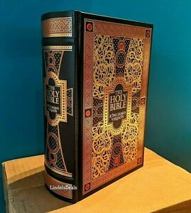 The Holy Bible King James Version Gustave Dore Illustrated Leather Bound NEW $55.99