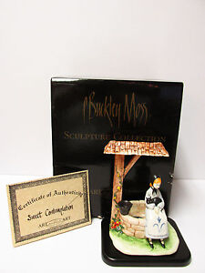 "P.Buckley Moss' ""Sweet Contemplationquot; Porcelain Sculpture*New in box with COA $155.00"