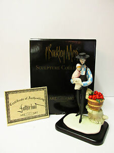 "P.Buckley Moss' ""Fatherhoodquot; Porcelain Sculpture*New in box with COA $215.00"