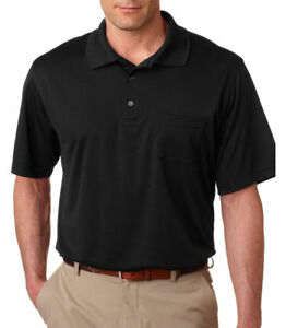 UltraClub Men's Polyester Short Sleeve Sport Polo Shirt L-2XL 12-Pack. 8405P