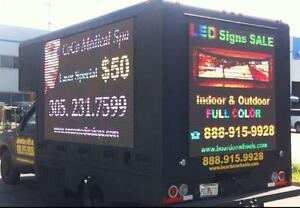 LED BOARD ON WHEELS FOR ADVERTISING