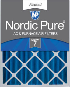 Nordic Pure 20x25x4 (3 58) Pleated MERV 7 Air Filter 1 Pack