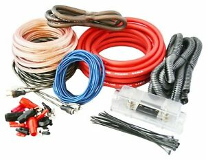 SoundBox T4AW R, 4 Gauge Amplifier Install Kit Complete Amp Wiring Cables, 3500W