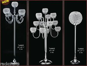 Crystal Decor Home Wedding Venue Candle Holders Vases Table Chandeliers
